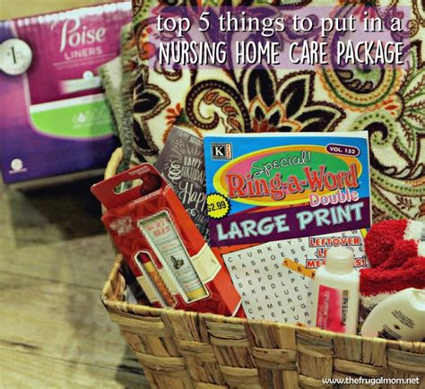 top 5 things to put in a care package for nursing homes