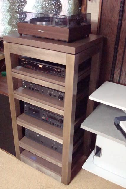 audio rack cabinet diy audio rack progress not a flexy stereophile com