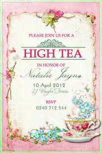 high tea invitation template of green gables tea