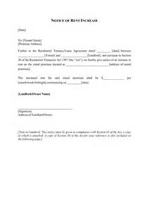 Tenant rent increase letter sample and rent increase notice letter