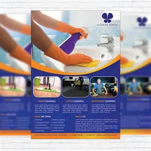 premium templates cleaning services premium business flyer psd template