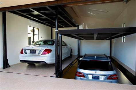 Car Garage Lift by Custom Car Lift In California Garage Mediterranean