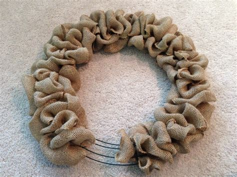 how to make a wreath with burlap diy burlap wreath www imgkid com the image kid has it