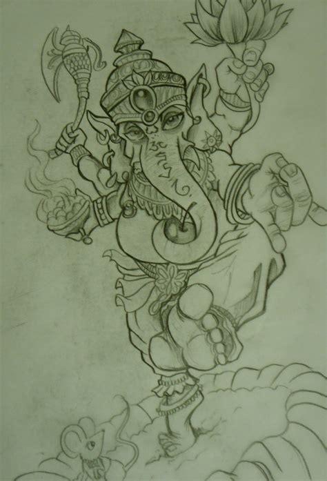 ganesha illustration tattoo ganesh tattoo sketch by chrisxart on deviantart