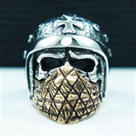 Cincin Tengkorak Skull Ring Bikers Helmet By Dogdag Metalworks lor g jewellery live fast die skull ring sterling oxidized silver mens biker masonic 925