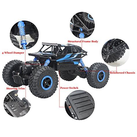 R C Rock Crawler 4wd Offroad 4x4 Rally Car 1 16 rock wheels support autos post