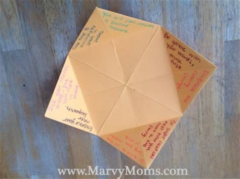 what to write in a paper fortune teller with paper fortune tellers marvy