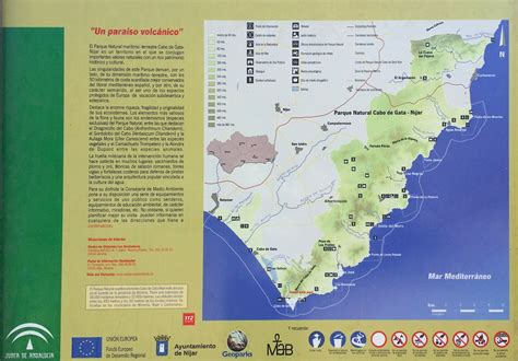 mapa parque cabo de gata parque y playas de cabo de gata mapa y mochila