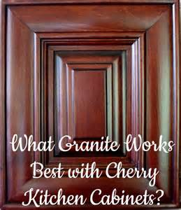 cherry kitchen cabinets with granite countertops best granite countertops for cherry cabinets
