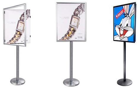 Standbase Hg Standar Custom sswf swing open poster display stand single sided poster stands swing open floor display