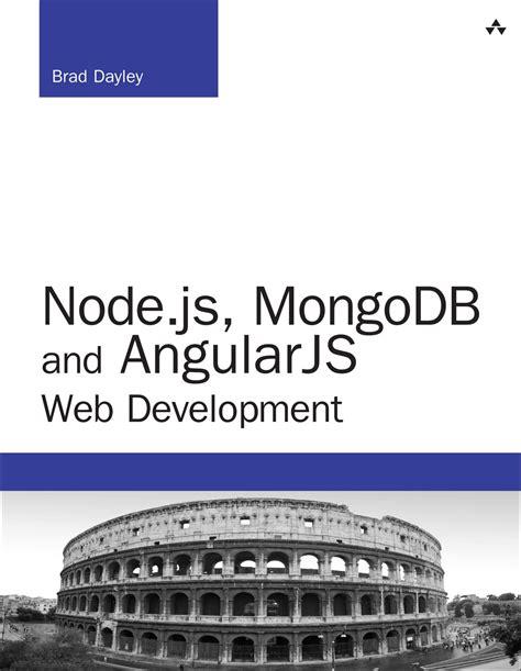 node js mongodb tutorial pdf node js mongodb and angularjs web development informit
