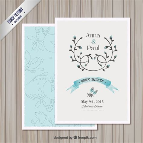 free vector invitation card template wedding invitation card template vector free
