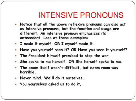 Reflexive And Intensive Pronouns Worksheet by Reflexive Pronouns