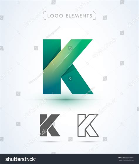 Origami K - origami letter k logo stock vector 565324471