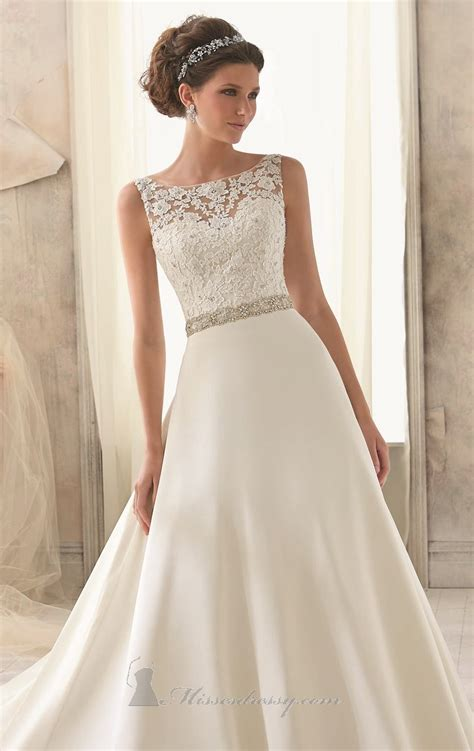 Wedding Dress Gaun Pengantin Brukat Korea High Neck mori 5204 kleid missesdressy