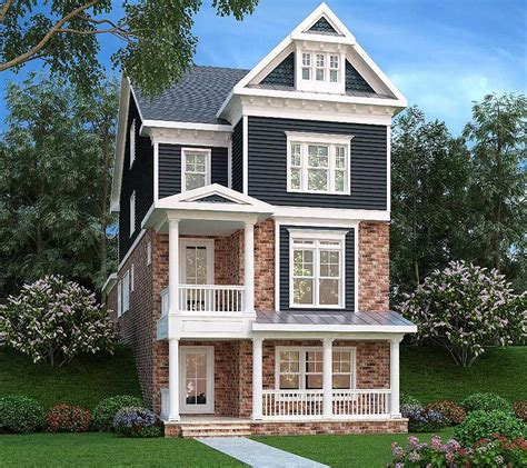 narrow lot home designs narrow lot home 3 level living 75553gb architectural designs house plans
