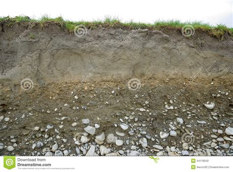 Soil Cross Section by Cross Section Of Soil Types Stock Photo Image 44118042