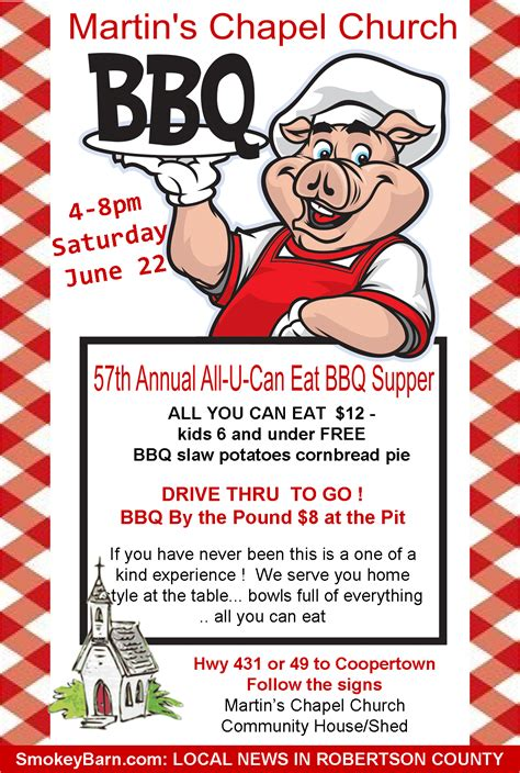 9 best images of bbq flyer templates free printable bbq