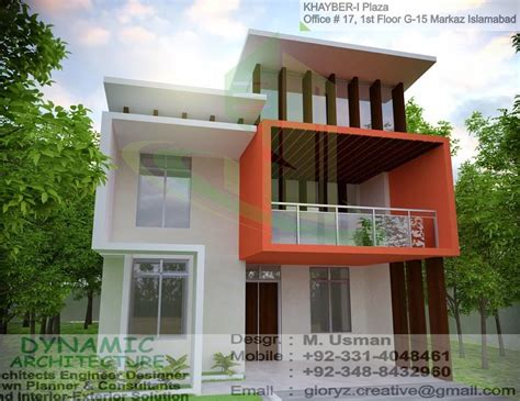 House Designs And Floor Plans In Kerala by Jinnah Garden 40x80 House Elevation View 3d View Plan