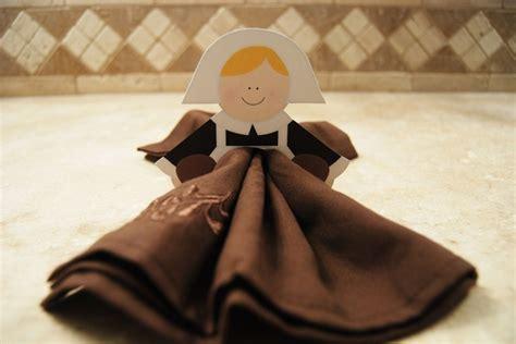 printable thanksgiving napkin ring craft easy pilgrim napkin holders printable napkin folding