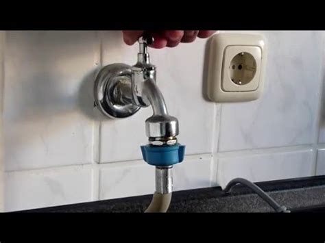 Waschmaschine anschließen   Waschmaschinenanschluss mit