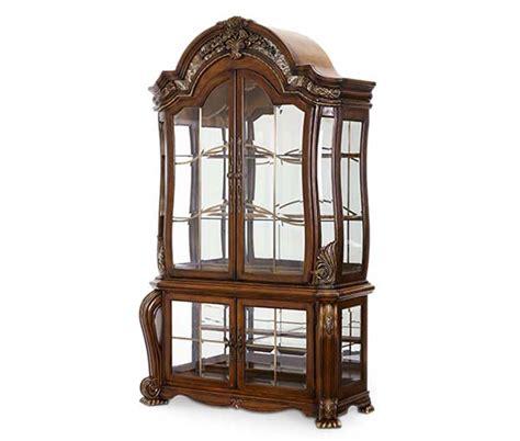 Michael Amini Oppulente Sienna Spice Traditional Style Curio Cabinet by AICO