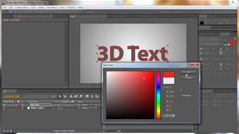 tutorial after effect text 3d after effects 3d rotating text tutorial youtube