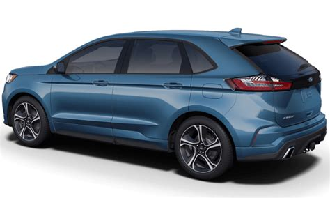 2019 Ford Edge by New Ford Performance Blue Color For 2019 Ford Edge Look