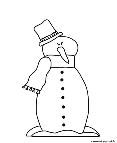 snowman coloring page pdf christmas winter guy snowman 985d coloring pages printable