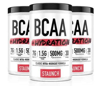 l glutamine hydration recover faster with staunch bcaa hydration with