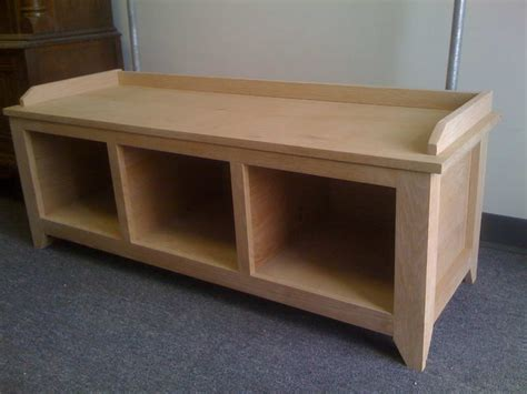 hallway bench plans custom wood entryway bench with 3 shelf decofurnish