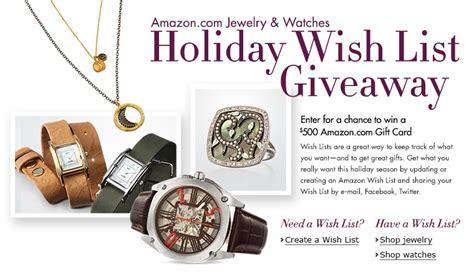 Amazon Giveaway List - amazon jewelry watch holiday wish list giveaway watch