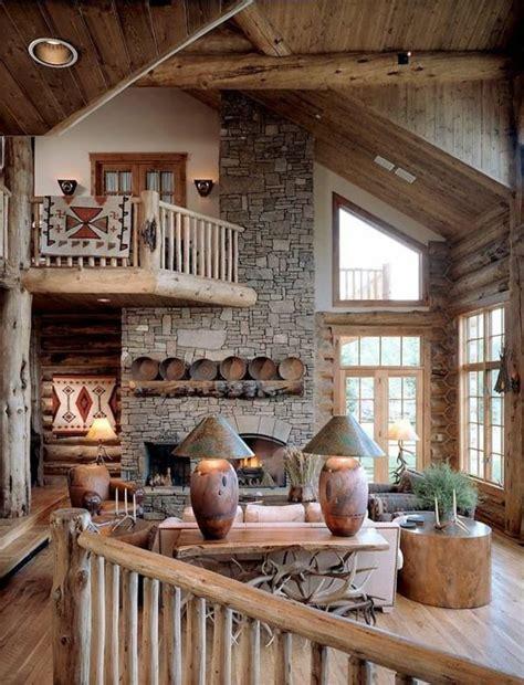wohnzimmer rustikal aus holz gemacht einrichtungsideen