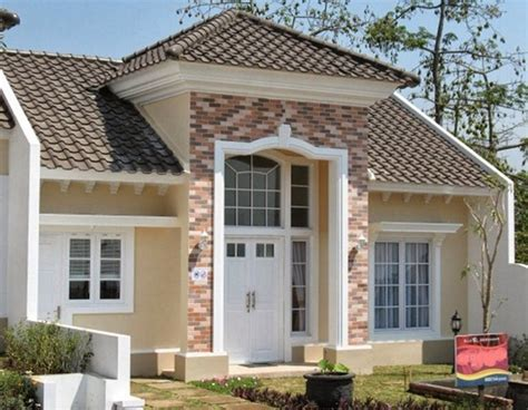 desain tak depan rumah eropa desain fasad rumah minimalis 1 dan 2 lantai modern tropis