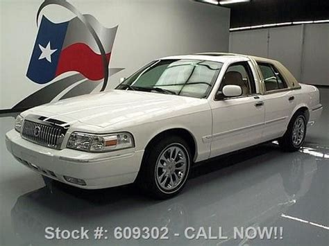 find used 2008 mercury grand marquis ls 6pass leather sunroof 28k texas direct auto in stafford