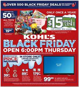 Vehicle Black Friday Deals 2015 Kohls Black Friday 2015 Ad Deals Sales