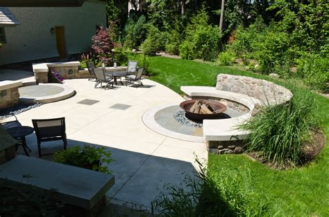 backyard with pit landscaping ideas fireplace