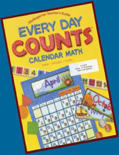 Calendar Where Everyday Is A Mathematics K 6 Every Day Counts Calendar Math