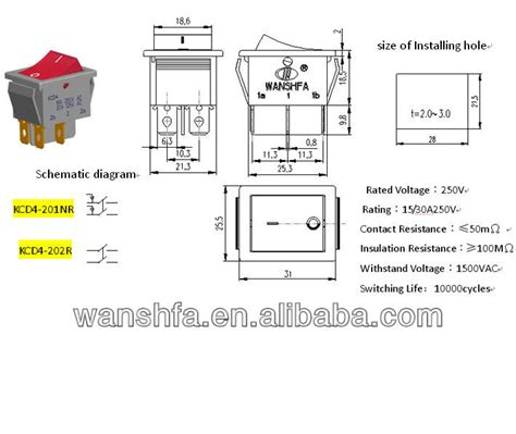 4 pin rocker switch wiring diagram electrical schematic