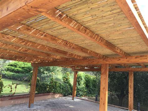copertura tettoia tettoia per auto con copertura in canne di bamb 249