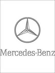 Kolorowanka z logo Mercedes-Benz | Kolorowanki dla dzieci