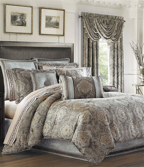 Beige Comforter Sets Queen J Queen New York Provence Damask Chenille Comforter Set