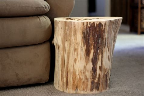 Wood Stump Table by Tree Stump Table Reclaimed Wood Furniture By Bessiescreations