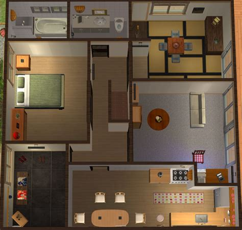 Traditional Japanese House Layout by Mod The Sims Katamari Village 2 Kido Residence A
