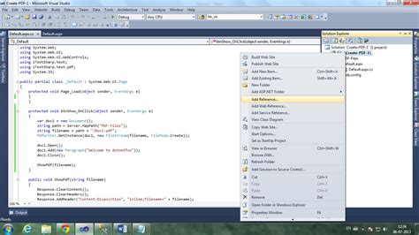 creating asp net website in c download free software c itextsharp create pdf from html