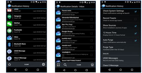 android notification history how to view dismissed notifications in android