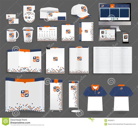vector corporate identity templates stock vector image