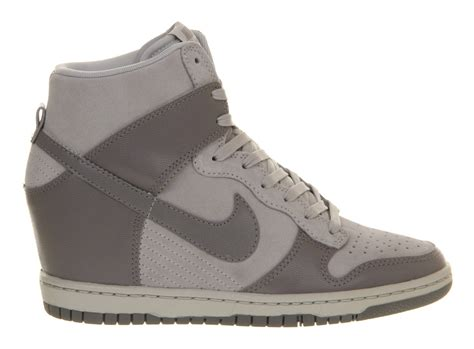 nike shoes high tops nike dunk sky high tops in gray grey lyst