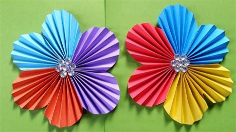How To Make A Simple Flower Out Of Paper - how to make a flower with colour paper easy simple