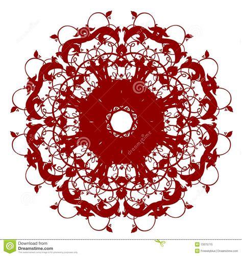 flower pattern in circle oriental circle flower pattern stock illustration image